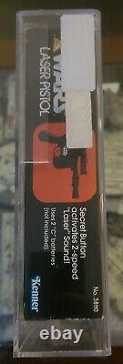 Star Wars Kenner vintage Han solo Laser Pistol AFA 80 1978 Blaster