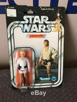 Star Wars Luke Skywalker 12 Back C MOC Vintage Kenner The Last Jedi