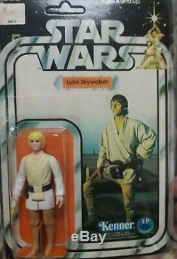 Star Wars Luke Skywalker 12 Back Vintage Carded Unpunched 1977