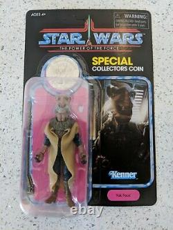 Star Wars Power of the Force Vintage Collection Yak Face withCoin Haslab Unpunched
