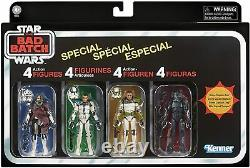 Star Wars Vintage Collection The Bad Batch 3.75 Special 4-pack Clone Troopers