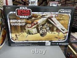 Star Wars Vintage Collection UNOPENED Toys R Us TRU Exclusive Republic Gunship