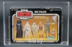 Star Wars Vintage ESB Six Pack Yellow Box AFA 75 MISB