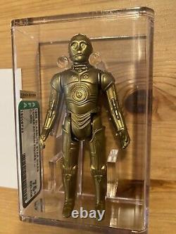 Star Wars Vintage Glasslite C3PO Afa 75+