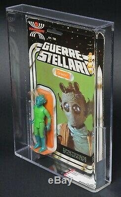 Star Wars Vintage Harbert Greedo 20 Back AFA 60 (50/80/85) MOC