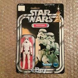 Star Wars Vintage Kenner 1977 Stormtrooper SKU Footer Rare 12 Back First 12 MOC