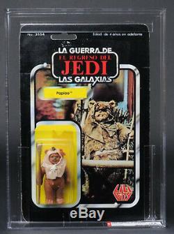 Star Wars Vintage Lili Ledy Paploo ROTJ Regreso 50 Back AFA 75 (75/80/85) MOC