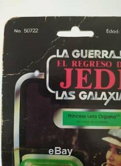 Star Wars Vintage Lili Ledy Princess Leia Poncho 50 Back Moc Mexico Variant