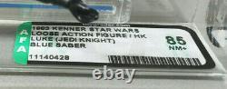 Star Wars Vintage Luke Skywalker Jedi Outfit Afa 85 Loose Kenner Blue Saber 1983