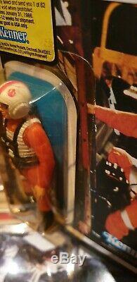 Star Wars Vintage Luke Skywalker X Wing MOC factory sealed Card aus Sammlung