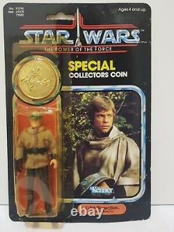 Star Wars Vintage Luke Skywalker in Battle Poncho MOC Last 17