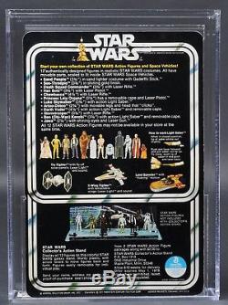 Star Wars Vintage R2-D2 12 Back-A SKU/Dark Blue AFA 85 (80/85/85) Unpunched MOC