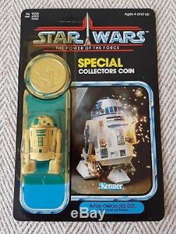Star Wars Vintage R2-D2 Pop Up Sabre MOC Carded POTF Coin (AFA)