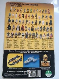 Star Wars Vintage ROTJ Luke Skywalker Jedi Knight Blue Saber MOC 65 Back
