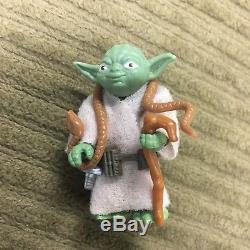 Star Wars Yoda (2) vintage loose figures Orange & Brown snake COMPLETE original