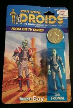 TIG FROMM DROIDS cartoon Vintage Star Wars KENNER 1985 ORIGINAL