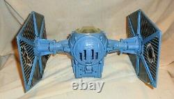 VINTAGE 80'S KENNER STAR WARS BATTLE DAMAGED IMPERIAL TIE FIGHTER With ORIG. BOX