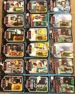 VINTAGE STAR WARS 34 sealed carded figures lot Kenner MOC 80s