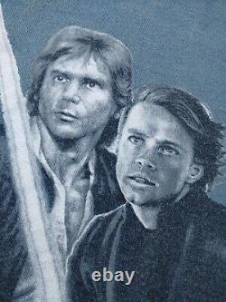 VTG 90s Lucasfilm 1995 STAR WARS Episode IV A New Hope Movie Promo t-shirt LARGE