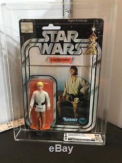 Vintage 1977 Kenner Star Wars Luke Skywalker Farmboy CAS 80 (Figure) With12C Card