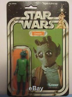 Vintage 1977 Star Wars 21 Back GREEDO MOC Clear Bubble