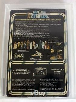 Vintage 1978 French Meccano Star Wars 12 Back Princess Leia Organa // AFA 70 EX