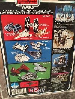 Vintage 1980 Kenner Star Wars ESB Carded 11 Back-B Die Cast Slave I DCA/AFA 75