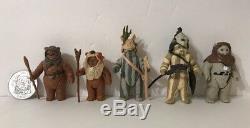 Vintage 1983-1985 Star Wars ROTJ POTF Ewok Lot Of 5 Romba Paploo Teebo Original