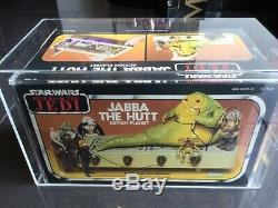 Vintage 1983 Kenner Star Wars Jabba The Hutt Playset MISB AFA 80 Beautiful Piece