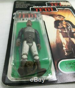 Vintage 1983 Kenner Star Wars Tri-logo Rotj Lando Calrissian Skiff Guard Moc