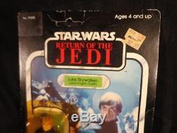 Vintage 1983 STAR WARS Return of The Jedi LUKE SKYWALKER JEDI KNIGHT MOC 77 Back