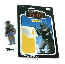 Vintage 1983 Star Wars ROTJ Jedi Boba Fettt Figure Complete 77 Cardback