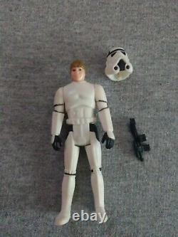 Vintage 1984 Star Wars Last 17 Luke Skywalker Stormtrooper coin & card POTF