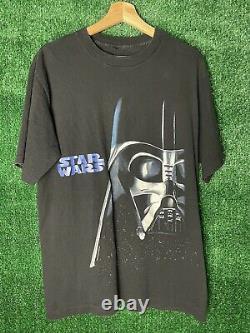 Vintage 90s 1995 Star Wars Darth Vader Changes T-Shirt Large Single Stitch