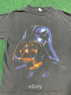 Vintage 90s 1995 Star Wars Darth Vader Sith Lord T-Shirt Large Single Stitch