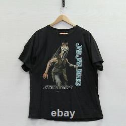 Vintage Jar Jar Binks Star Wars Phantom Menace T-Shirt Size XL 90s Movie Promo