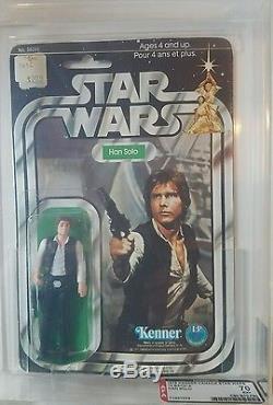 Vintage Kenner Canada Star Wars 1978 12 back-A Han Solo MOC AFA 70