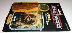 Vintage Kenner STAR WARS Power of the Force Chewbacca MOC with Coin & Case 1985