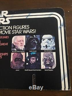 Vintage Kenner Star Wars 12-Back Figure Store Display Header Excellent Condition