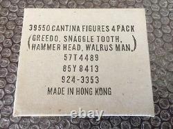 Vintage Kenner Star Wars Cantina Mailer 4 Pack Snaggletooth-Greedo-Hammer-Walrus