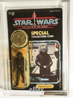 Vintage Kenner Star Wars Potf 92 Back Imperial Gunner Afa 85 Moc Unpunched