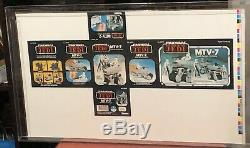 Vintage Kenner Star Wars Revenge Of The Jedi Mtv-7 Proof Sheet Afa 85 Rare