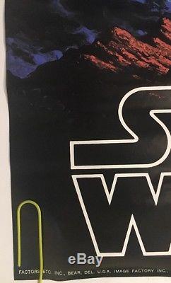 Vintage Poster Star Wars Original Movie Pin-up 1977 Hildebrandt Factors Fox 70s