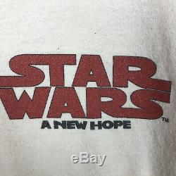Vintage STAR WARS A New Hope 1995 Lucas Films Inc Movie Promo XL Anvil T-SHIRT