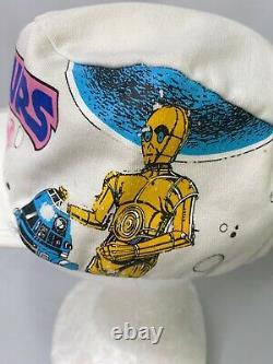 Vintage STAR WARS Tours Hat Fitted Cap R2 D2 Retro 80s Disneyland Parks RARE