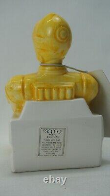 Vintage Sigma Ceramic Glazed Star Wars C-3PO Tape Dispenser