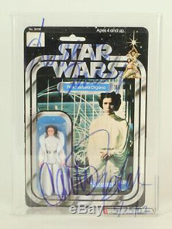 Vintage Star Wars 12 Back Princess Leia Signed By Carrie Fisher AFA