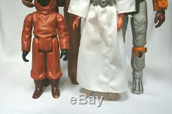 Vintage Star Wars 12 inch line lot figure doll Boba Fett Leia Jawa Chewbacca
