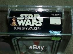 Vintage Star Wars 1979 Kenner AFA 80 LUKE SKYWALKER 12 inch doll MISB SEALED Box