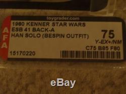 Vintage Star Wars 1980 AFA 75/85/80 HAN SOLO BESPIN ESB 41 BACK-A CARD MOC UNP